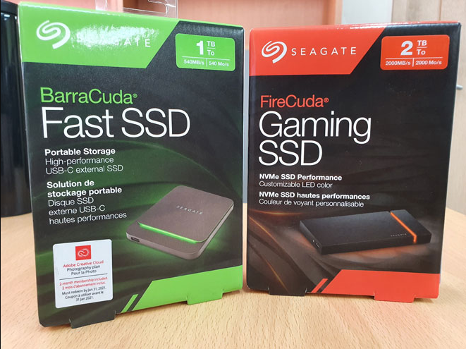 Faster external SSD to play with, Seagate Barracuda Fast SSD & Firecuda Gaming SSD